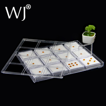 Multiple Compartments Jewelry Diamond Holder Storage Tray Gem Display Beads Jar Lid Gemstone Plastic Clear Coin Stone Organizer