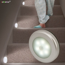PIR Motion Sensor 6 LED Cabinet Lights Kitchen Bedroom Cupboard Light Wireless Magnetic Corridor Stair Light Night Lamp(China)