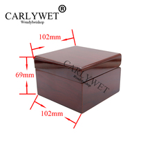 CARLYWET Wholesale Fashion Luxury Wood Watch Box Jewelry Storage Case Gift With Pillow For Rolex Omega IWC Panerai Breguet