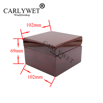 CARLYWET Wholesale Fashion Luxury Wood Watch Box Jewelry Storage Case Gift Box With Pillow For Rolex Omega IWC Panerai Breguet image