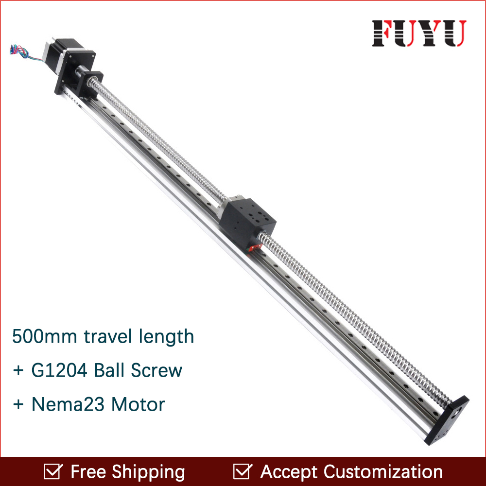 Free shipping 500 Mm Stroke Fuyu Brand C7 Ball Screw Driven Linear Motion Guide Rail For Printer anne klein часы anne klein 2674bkgb коллекция dress