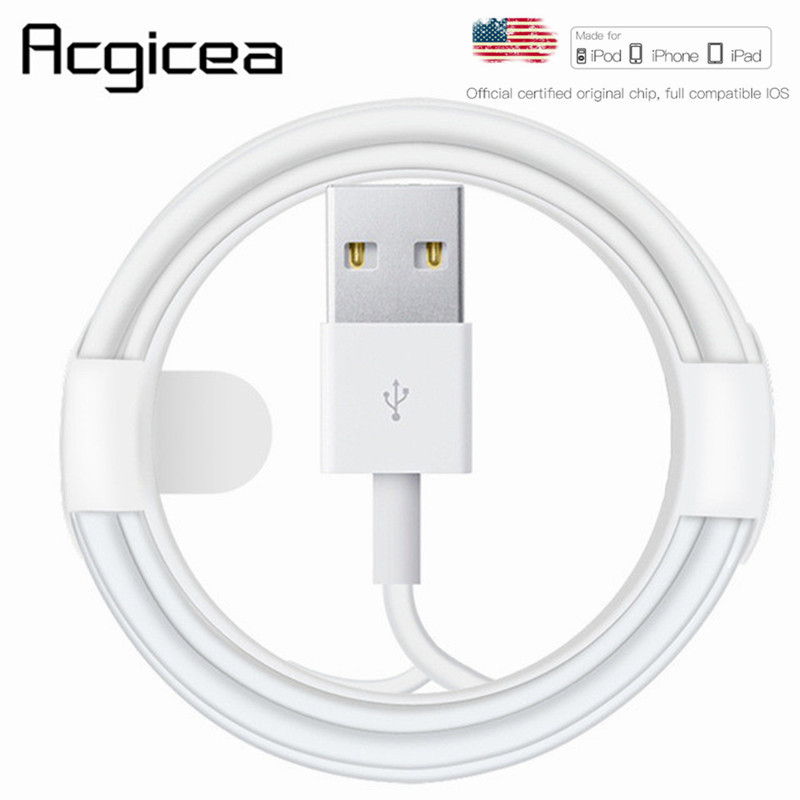 Original For iPhone USB Cable 1M 2M 3M 2.1A Fast Charging data charger cord for apple
