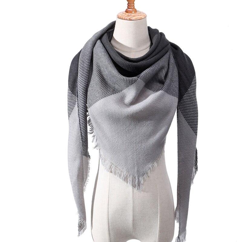 Бандана палантин платок на шею шарф зимний Дизайнер трикотажные весна-зима женщины шарф плед теплые кашемировые шарфы платки люксовый бренд шеи бандана пашмина леди обернуть - Цвет: c16