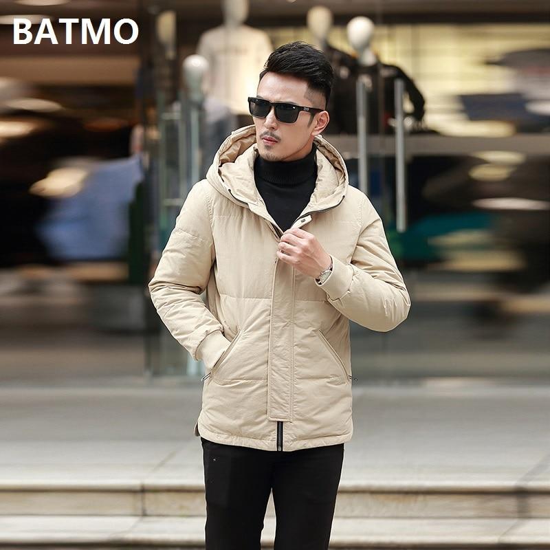 Arrivée Parkas À Blanc khaki Hommes Hommes Vestes Plus 90 taille D'hiver 2018 Kaki Batmo M Haute Canard L059 Yellow De 4xl Capuche Nouvelle Duvet Qualité STEx7f
