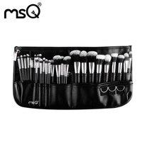 Professional Makeup Cosmetic 29 Pcs Set Pockets Artist Brush Goat Hair Wood Handle Fashion Women Cosmetic