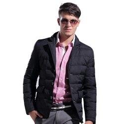 Lesmart winter men s coat jacket white duck down solid short fashion casual business suit thicken.jpg 250x250