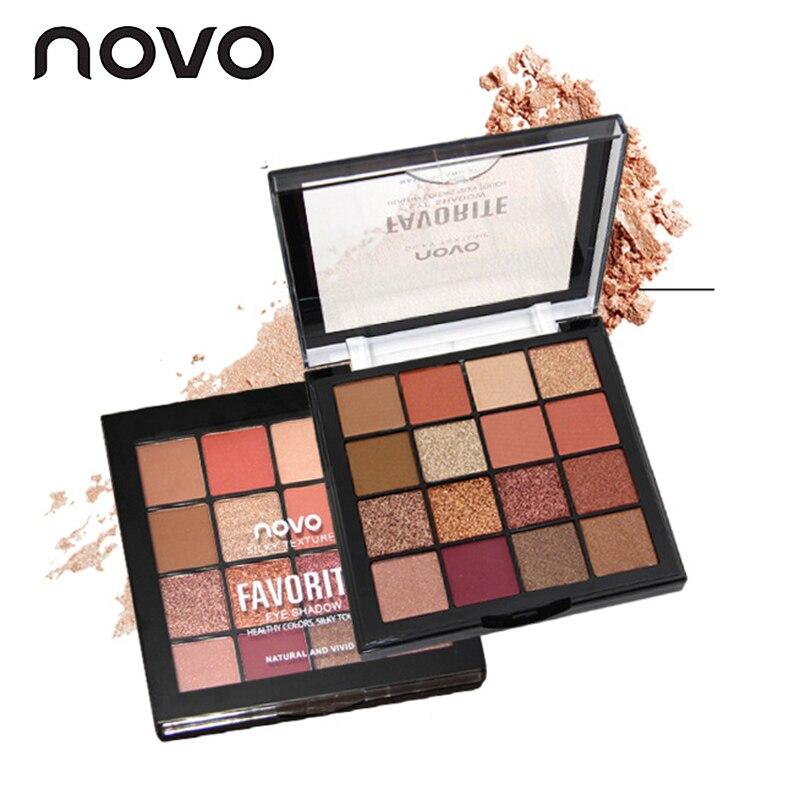 Novo 16 cores n fosco glitter sombra paleta conjunto de maquiagem sombra de olho em pó pallete compõem pigmento beleza cosméticos