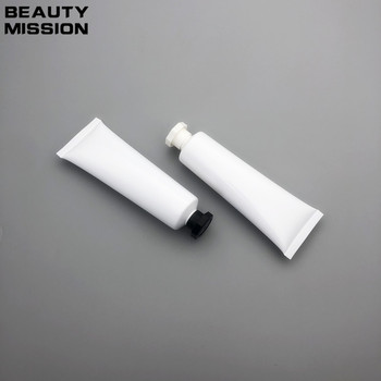 100pcs/lot 50ML White Empty Soft Tube Cosmetic Cream Lotion Shampoo Containers Facial cleanser Unguent Containers Tube Squeeze