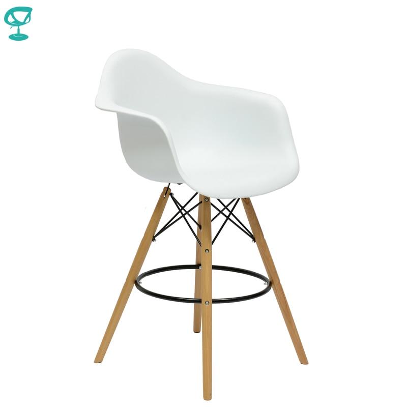 94982 Barneo N-153 Plastic Wood High Kitchen Breakfast Bar Stool Bar Chair Kitchen Furniture White Free Shipping In Russia