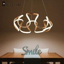 Golden Frame Modern LED Chandeliers For Dining Room Living Bedroom Study Minimalist Home AC 220V 110V