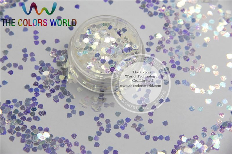 111C3 3MM size White with blue light shinning color glitter Ice cream  shape amazing sparkles for Nail Art  and DIY supplies