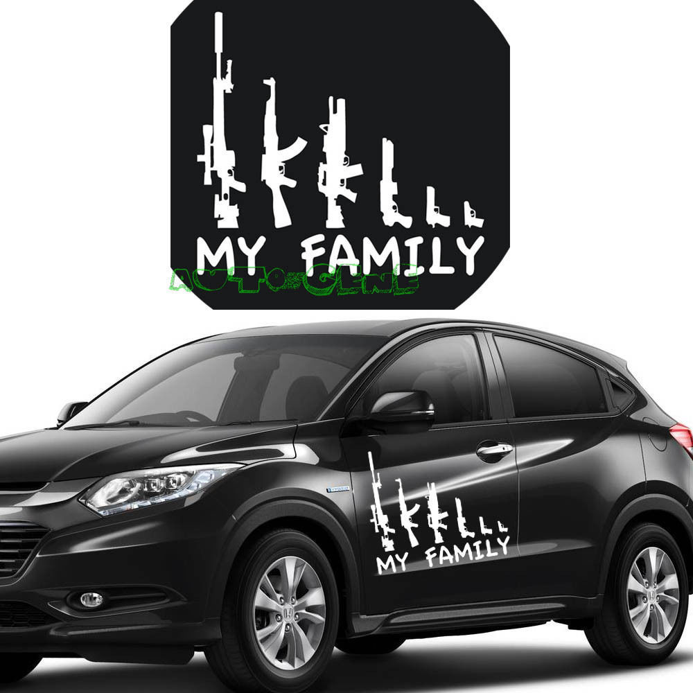 Car sticker design family -  1 10 My Gun Family Bumper Sticker Window Funny Laptop Car Truck