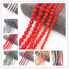 Wholesale 4/6/8/10mm 32 Faceted Austria Transparent Crystal Ball Beads Spacer for Necklace and DIY Bracelet Making