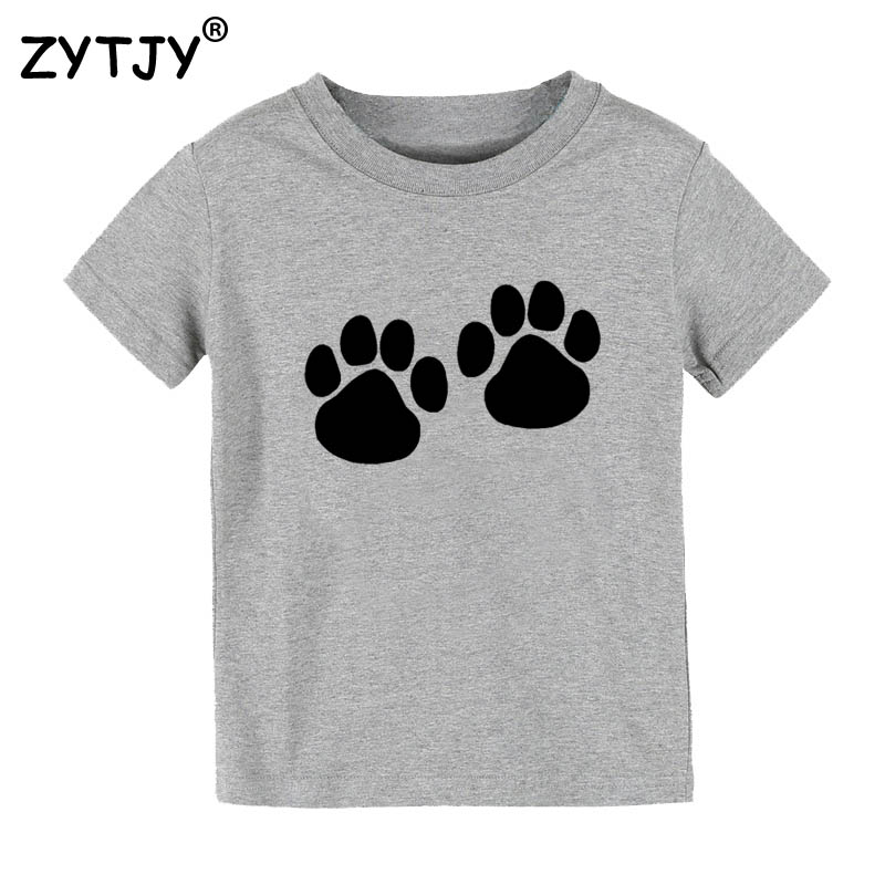 Cat And Dog Paw Print Kids tshirt Boy Girl t shirt For Children Toddler Clothes Funny Top Tees Drop Ship Y-12 drop shipping business for shopify wordpress free oversea drop ship t shirt jewelry drop shipper from china quality service