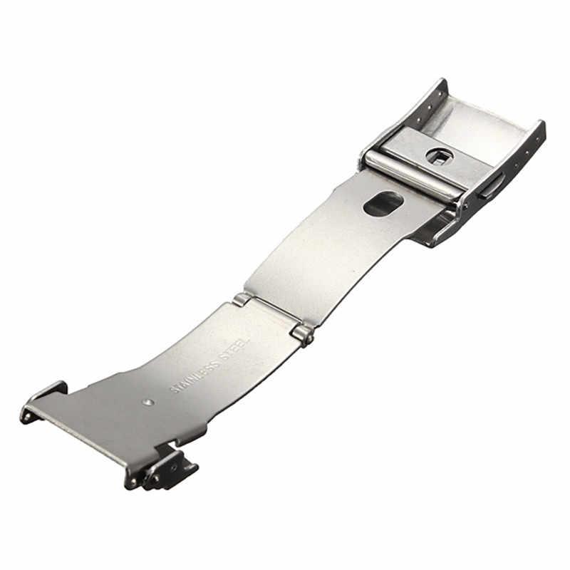 Gran oferta Cierre de mariposa correa de reloj de acero inoxidable hebilla de doble botón de presión para 16mm 18mm 20mm 22mm 24mm correa de reloj
