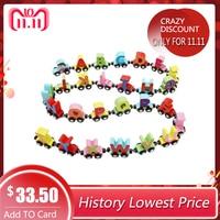 RCtown 27 Pcs/Set Magnetic Train Cars Alphabets/Digital Toy Set Toy Train Set for Kids Toddler Boys Girls