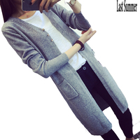 New Spring 2016 Women Sweater Cardigans Casual Warm Long Design Female Knitted Sweater Coat Cardigan Sweater
