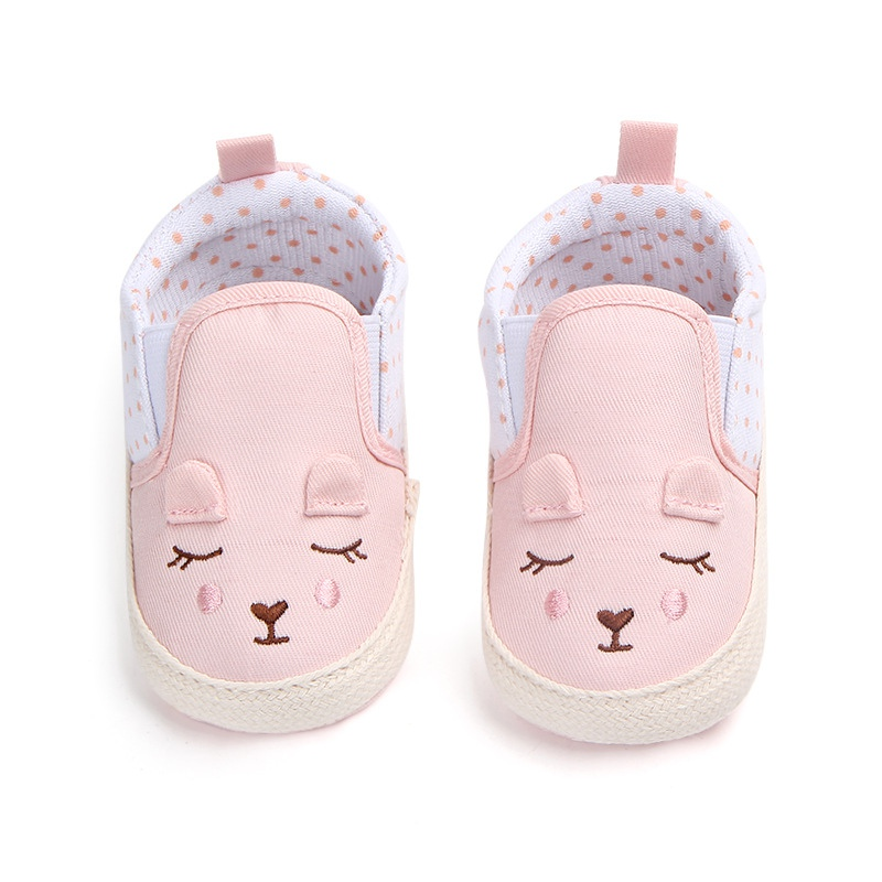 Baby Shoes Girls Cotton Newborn Toddler Shoes First Walker Baby Girl Cute Non-Slip Soft Bottom Shoes Children