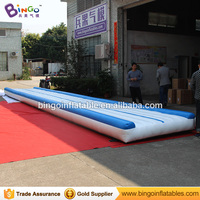 12 * 2M / 40ft * 7ft Air Track Mat Inflatable Gymnastics Mat Giant Inflatable Game with Fan Blower for Outdoor Fun and Sports