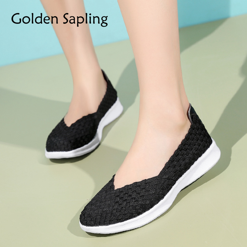 Golden Sapling Women's Sneakers Running Shoes for Women Solid Black Air Mesh Slip GYM Female Shoes Sports Trainer Woman Sneakers