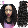 Grade 7A Virgin Indian natural wave Hair 100% Human Hair Extentions 3 Bundles Indian Virgin Hair Water Wave Virgin Hair bundles
