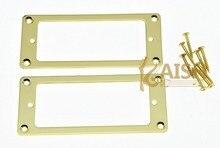 Gold Metal Mini Humbucker Pickup Mounting Rings Flat Bottom Mini Pickup Frame