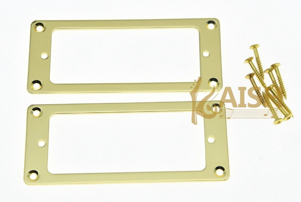 flach Humbucker Pickuprahmen Set metall Gold