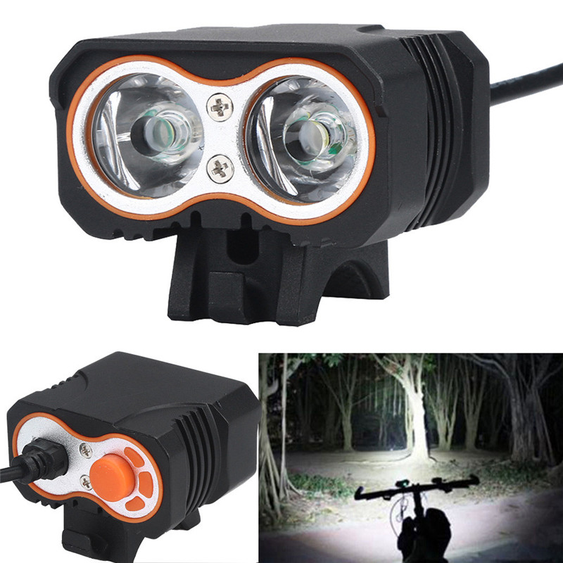 B2 Led Light 2 x XML T6 LED 3 Modes USB Recharge Bicycle Lamp Bike Light Headlight Cycling Torch Long Life Wholesales&Retails
