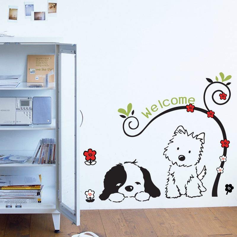 Welcome Wall Decal Sticker Home Decor DIY Removable Art Vinyl Mural For Kids Room/Background /Hallway/Study Room QTB89 Cartoon