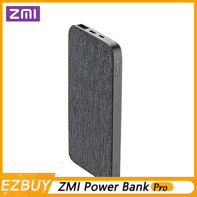 Xiaomi ZMI QB910 10000 mAh batterie externe type-c 2 voies 18 W charge rapide Portable batterie externe Hub USB pour iPhone-gris foncé