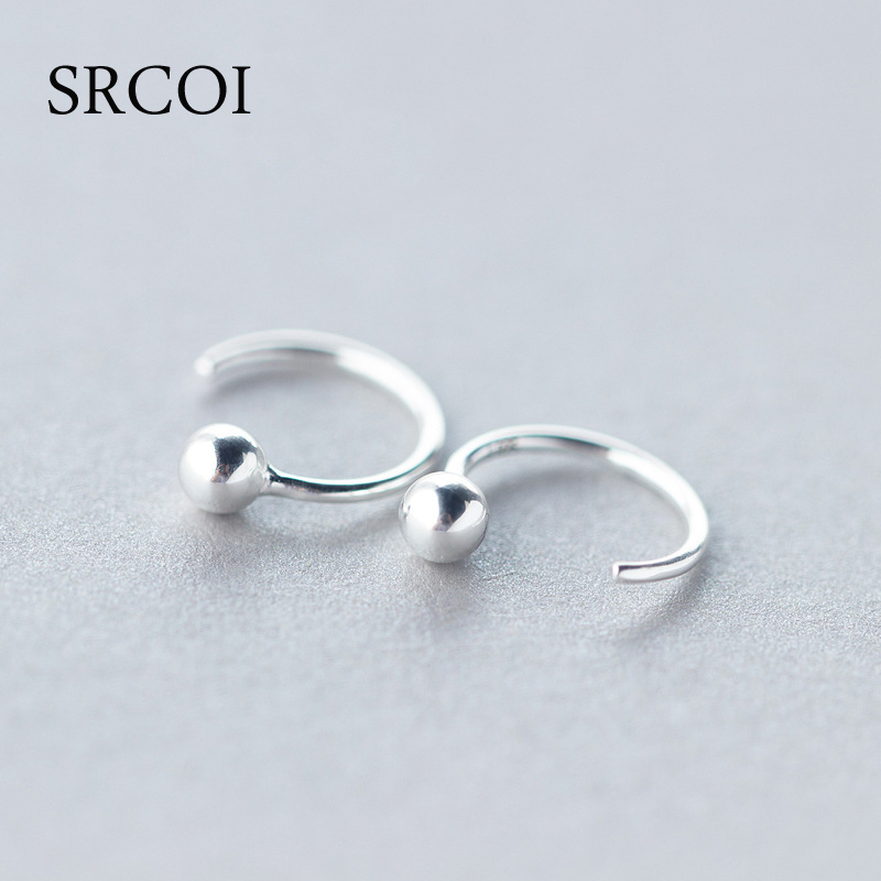 Sterling Silver Ball Hoops