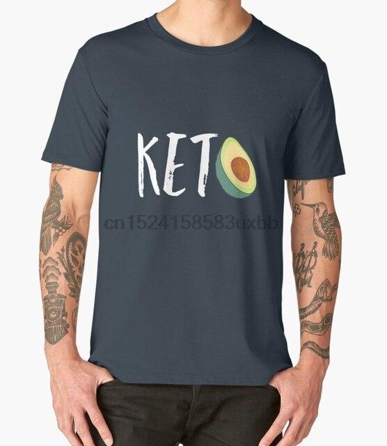 77d1d00e4da Printed Men T Shirt Cotton O-Neck tshirts Keto Diet Low Carb High Fat  Avocado Funny Gift T shirt Short-Sleeve Women T-Shirt