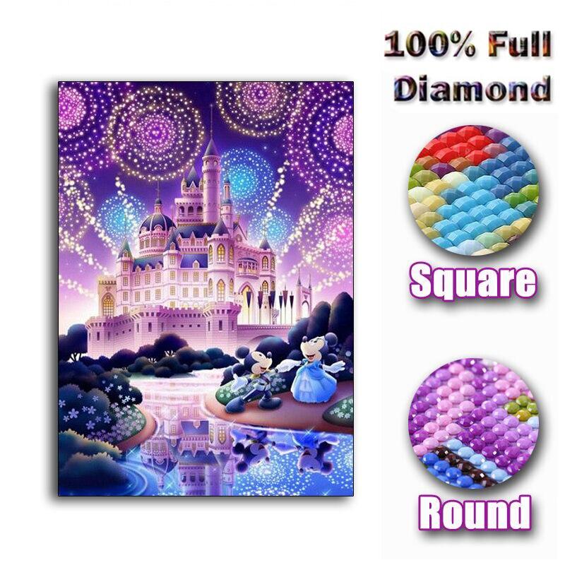 Needle Arts & Crafts Diy 5d Diamond Painting Cross Stitch Princess Square Rhinestones Full Diamond Embroidery Disney Diamond Mosaic Handicraft Diamond Painting Cross Stitch