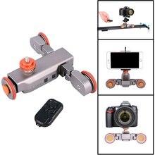 DIGITALFOTO Autodolly Remoto Inalámbrico cámara Motorizada Skater Dolly DSLR Resbalador de la Pista de Vídeo Polea Eléctrica Del Coche Rodando
