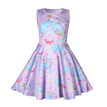 Baby girl clothes Princess dress kids cartoon printed for Girls Halloween costume cosplay Party 1248