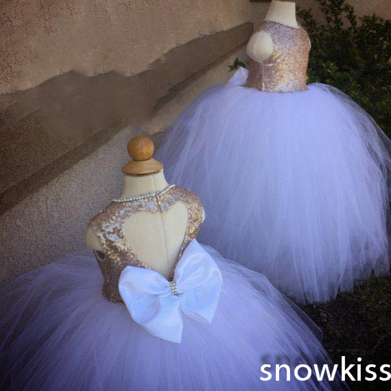 2016 lilac sweetheart back flower girl dress sequins crystals sparkly beading wedding party glitz puffy prom gowns with bow hot sale halter beading sequins short homecoming dress