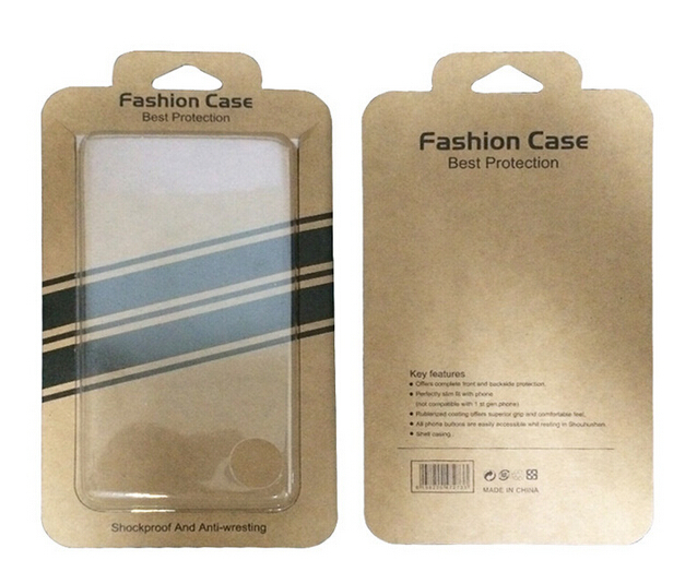 New Pull Out Clear Cell Phone Cases Packaging Box For