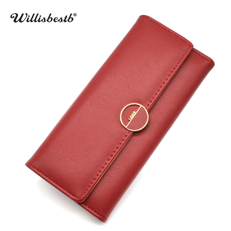 New Designer Leather Purses Women Wallets Luxury Brand Female Purse Long Hasp Wallet Woman Card Holder Clutch Feminina Carteira women female bow famous brand designer hello kitty leather long wallets purses carteira feminina couro portefeuille femme 40