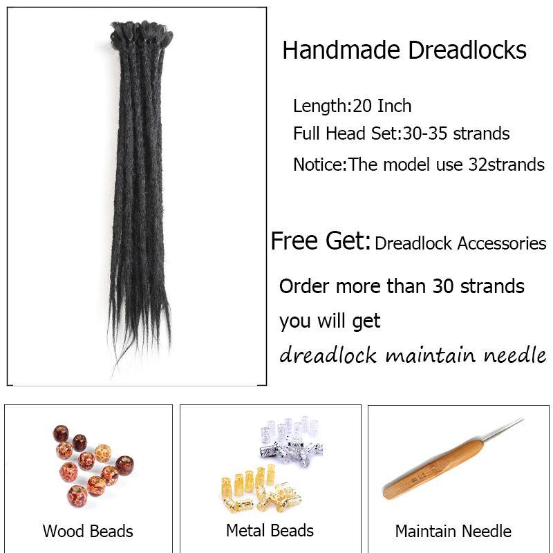Dreadlocks Extensions Handgjorda flätande hårförlängningar Pure - Syntetiskt hår - Foto 3