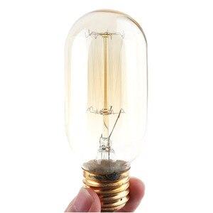 Image 3 - Lampada da tavolo retrò lampada da comodino a presa singola Base in legno lampadina Edison Vintage creativa con portalampada