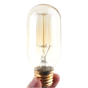 Image 3 - Retro Table Light Single Socket Bedside Desk Lamp Wooden Base Creative Vintage Edison Light Bulb with Lamp Holder