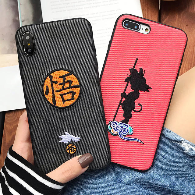 DRAGON BALL EMBROIDERY IPHONE CASE