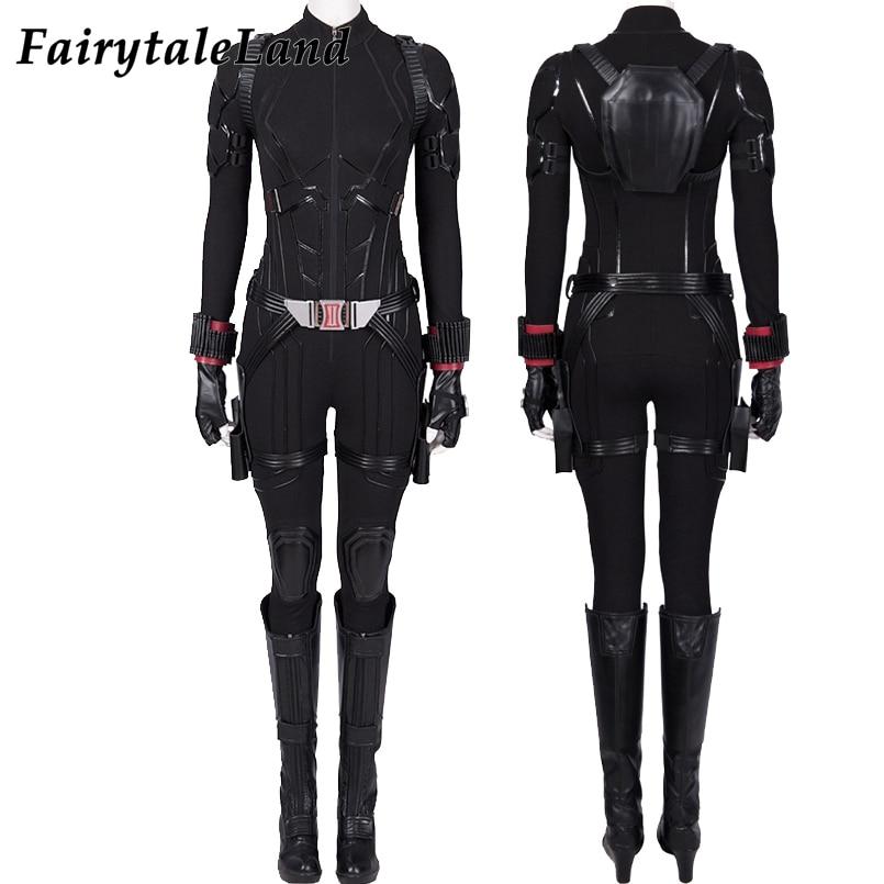 Image 2 - Avengers Endgame Black Widow Cosplay Costume Halloween Women Costumes Avengers 4 Natasha Romanoff costume Black Widow Jumpsuit-in Movie & TV costumes from Novelty & Special Use