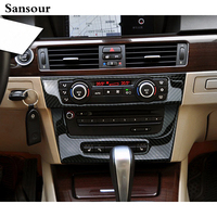 Car Styling Interior Middle Control Refitting Vehicle Air Conditioning CD Carbon Fiber Decorative Trim For BMW
