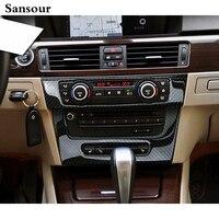 Voiture Style intérieur de contrôle moyen repose véhicule climatisation CD en fiber de carbone garniture décorative Pour BMW 3 série vieux E90