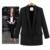 Estilo europeu Cor Sólida Mulheres Blazers E Jaquetas 2017 Primavera Moda Outono Longo Fino Escritório Senhoras Jaqueta blazer feminino