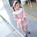 Первый день рождения девушка бальные платья 2017 весна детей платья для девочек печати туту платье с длинным рукавом дети платье принцессы