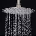 8 Inch Ultra-quiet Water-saving Rainfall Bathroom Round Shower Head RGB LED Lighting Top Spray ABS & Stainless Steel