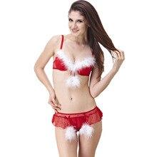 Weihnachten Frauen Bh Set 3/4 cup Bügel bh Sexy Push-Up-Jacquard elastische mesh tuch Dessous Rot Haben 34B 36B 34C 36C 34D 36D
