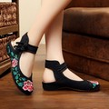 Chinese Vintage Embroidered Slippers Canvas Shoes Summer Casual Travel National Cloth Women's Elegant Flats Sandals SMYXHX-F0008